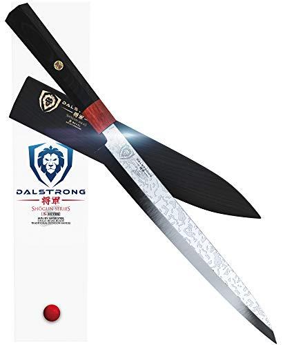 DALSTRONG Yanagiba Knife - Shogun Series 'S' - Einseitig geschliffen - Klingenlänge 26,7 cm - Holzgriff