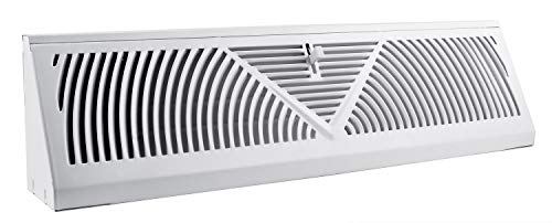 Accord ABBBWH18 Baseboard Register with Sunburst Design, 18-Inch(Duct Opening Measurement), White