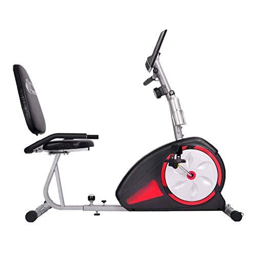 ZAIHW Bicicleta estática reclinada Cubierta Ciclismo Bicicleta estacionaria con Asiento Ajustable y Resistencia, Prueba de frecuencia cardíaca y Antideslizante del Pedal