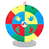WinSpin 24' Twister Game Spinner Template Body Twister Moves Board Sport Twisting Game Group Game for Parties and Events