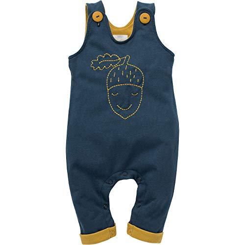 Pinokio - Secret Forest - rompelbroek baby jongens kinderen unisex marineblauw overall broek met bretels 100% katoen broekbroek met knopen 62 68 74 80 86 cm