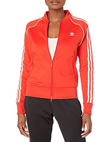 adidas Originals Women's Primeblue Superstar Track Jacket, Red, Medium