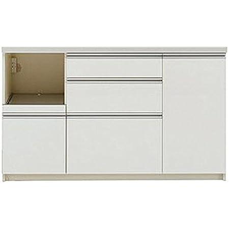 パモウナ 食器棚WL パールホワイト 幅140×高さ85×奥行45 日本製 WLL-S1400R下台