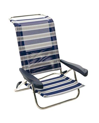 Crespo AL/222-M-17 - Silla-cama playa 6 pos.Dural.(Multifibra), color azul