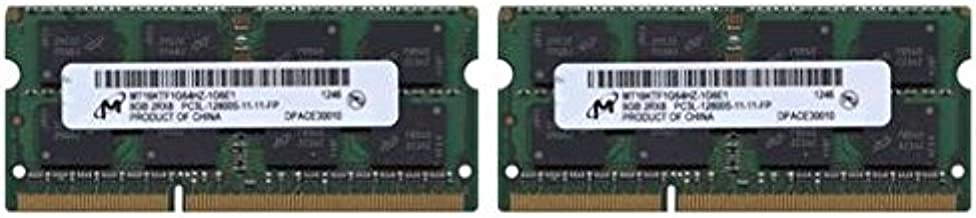 16.0GB (8GBx2) PC3-12800 DDR3L 1600MHz SO-DIMM 204 Pin CL11 SO-DIMM Memory Upgrade Kit for 2012 MacBook Pro 13