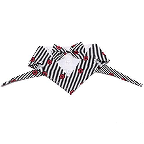 Mwfus Hundewelpen Formelle Smoking Kostüm Hund Bandana Halsband mit Fliege Dreieckstuch Halstuch für Hochzeit Party und Geburtstag