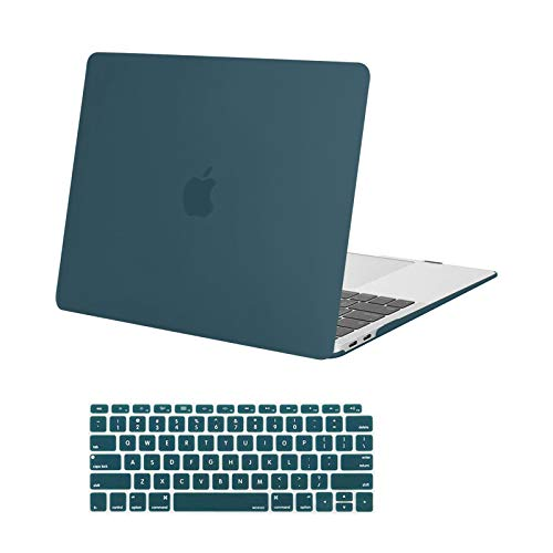 MOSISO Compatible with MacBook Air 13 inch Case 2020 2019 2018 Release A2337 M1 A2179 A1932 Retina Display with Touch ID, Protective Plastic Hard Shell Case & Keyboard Cover Skin, Deep Teal