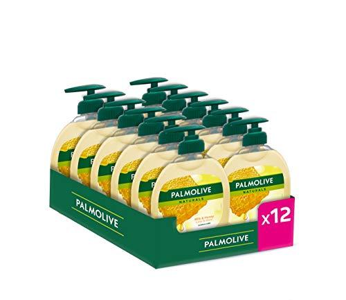 Palmolive Flüssigseife Milch und Honig, 12 x 300 ml, insgesamt 3600 ml