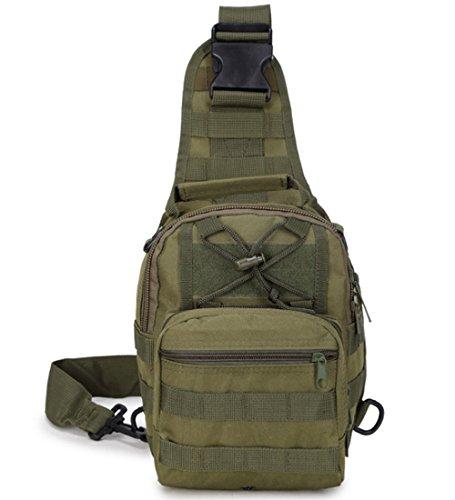 Rullar Petit sac à dos tactique militaire Molle multifonctionnel pour randonnée, chasse, camping, vert kaki