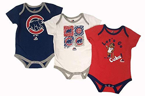 Chicago Cubs Baby/Infant Go Team 3 Piece Creeper Set 18 Months