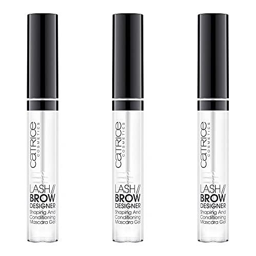Catrice Lash Brow Designer Shaping And Conditioning Mascara Gel, Fake Lashes-Zubehör, Nr. 010, transparent, pflegend, definierend, langanhaltend, matt, vegan, Nanopartikel frei, 3er Pack (3 x 6ml)