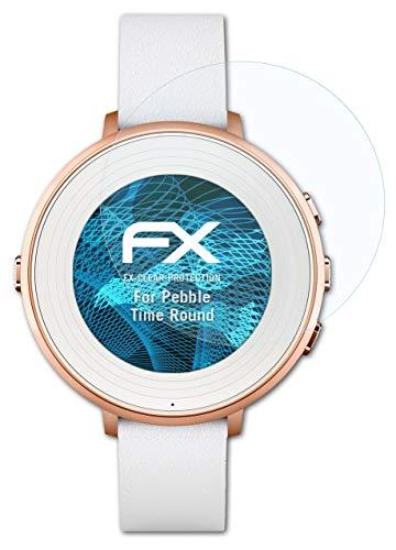 atFoliX Schutzfolie kompatibel mit Pebble Time Ro& Folie, ultraklare FX Bildschirmschutzfolie (3X)