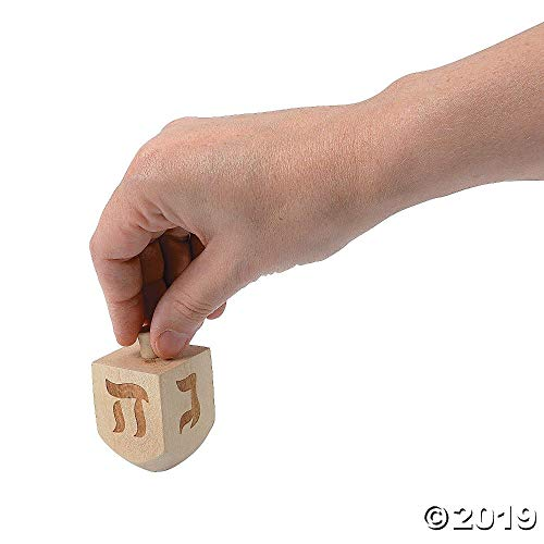 Lowest Price! 12ct. Dreidel Spinning Tops- Happy Hanukkah