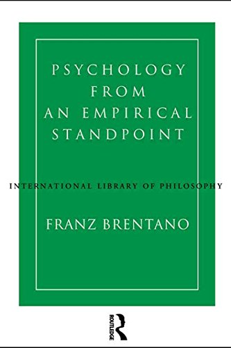 Psychology from an Empirical Standpoint (International Library of Philosophy)