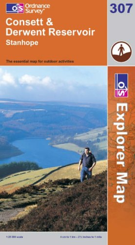 OS Explorer map 307 : Consett & Derwent Reservoir