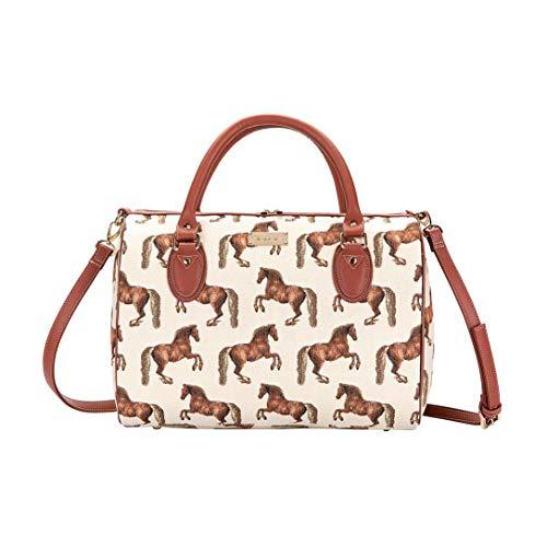 Signare Tapestry Arazzo Borsa a Tracolla Donna, borsa a spalla donna, Crossbody bags con disegni di cavalli e pecore (Whistlejacket)