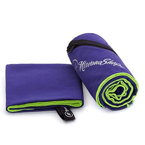 NirvanaShape  Toallas de Microfibra | Absorbentes, Ligeras, de Secado rápido | Toallas de baño, Toalla de Viaje, Toallas Deportivas | Ideales para Viajar, IR al Gimnasio, la Playa, Practicar Yoga
