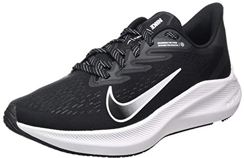 Nike Zoom Winflo 7, Chaussure de Course Homme, Black White Anthracite, 46 EU