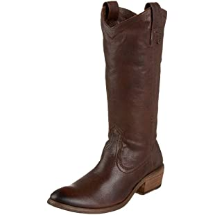 Frye Women's Carson Pull On Dark Brown Cowboy Boot 77687 6 UK, 8 US