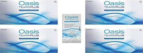 125 Vials Oasis Tears Plus Preservative-Free Lubricant Eye Drops (4 Boxes, 30 Vials each and a 5 Vial Packet)