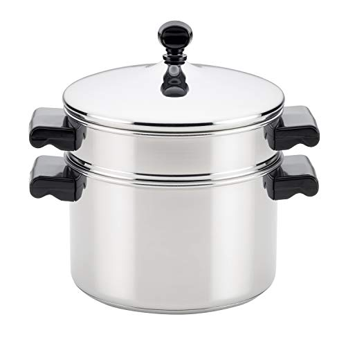 Farberware Classic Series Sauce Pot/Saucepot with Steamer Insert, 3 Quart, Silver