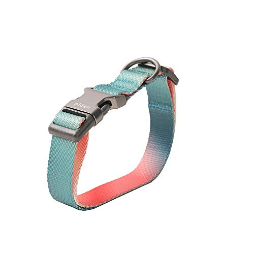 pidan Dog Collar Puppy Collar Adjustable Collar with Quick Release Buckle Soft Comfortable Water Resistant for Small and Medium Dogs (Pink-Green Gradient)