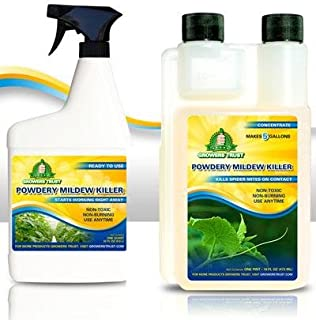 Growers Trust Powdery Mildew Killer Non-Toxic, Biodegradable - Natural Fungicide -Treatment (Solution Makes 32 oz Ready to use Foliar Spray)