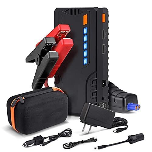 Booster Batterie, 800A 18000mAh Démarrage de Voiture, 12V Chargeurs de Batterie, 7.0L Essence ; 5.5L Diesel, 2 Charge Rapide, LED Lampe