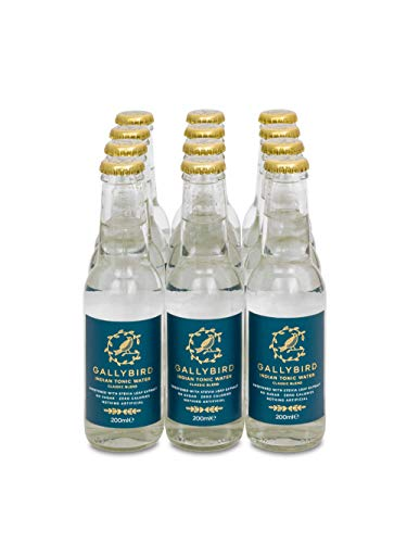 Gallybird 12 x 200ml Naturally Sugar & Calorie Free Premium Indian Tonic - Classic Blend