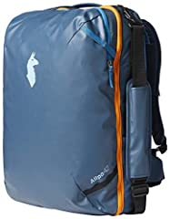 TPU-coated 1000D polyester shell with 840 ballistic nylon paneling Weight-distributing, low-profile harness system with removable, torso height, adjustable hipbelt Suitcase-style, full-wrap zipper opening on the main compartment Padded laptop and tab...