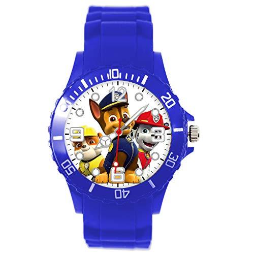 Reloj de cuarzo con correa de silicona azul para fans de PUPS