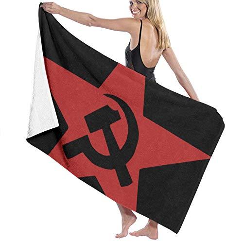 ghjkuyt412 Bath Towel,80X130Cm Communist USSR Hammer Sickle and Star Bath Towels Super Absorbent Beach Bathroom Towels For Gym Beach SWM SPA