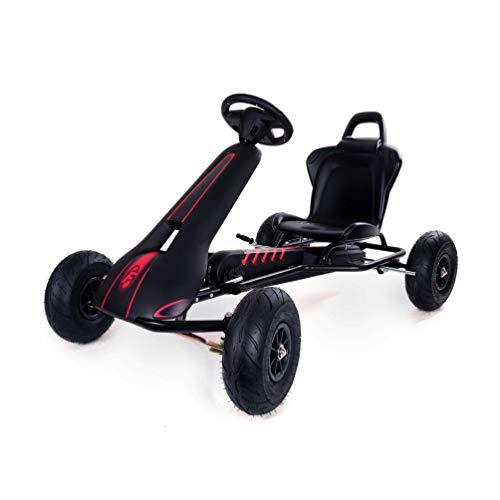 Ferbedo Go Cart AR8D (Kinderfahrzeug mit Freilaufautomatik, verstellbarem Sitz, Luftreifen, Soundlenkrad, Tretauto ab 5 Jahre, Kart) F008711
