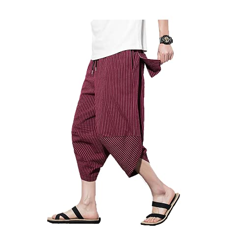 Pantalones Capri Pantalones Anchos de Pierna Ancha Pantalones harén Cintura elástica Cordón Playa Casual Suelto
