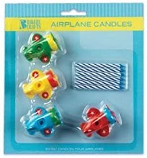 Salman Store 4 AIRPLANE CAKE CANDLE HOLDERS Toppers Party Supplies Birthday Decorations