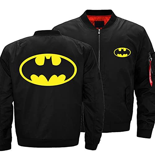 Herrenjacke 3D Batman Print Leichte Casual Jacke mit durchgehendem Reißverschluss Baseball Sportswear Outdoor Military Coat A-XX-Large