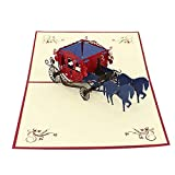 Fliyeong 1 X 3D Soild Hochzeit Gruß handgemachte Geschenkkarte für Happy Brithday Hochzeit Weihnachten Jubiläen stilvoll