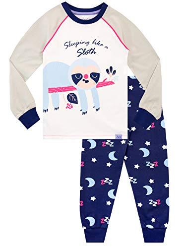 Harry Bear Mädchen Schlafanzug Slim Fit Faultier Violett 146