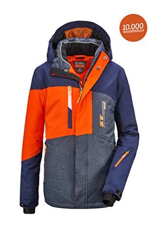 Killtec Jungen Glenshee BYS Ski Jckt A Funktionsjacke Mit Kapuze Und Schneefang, dunkelnavy, 152
