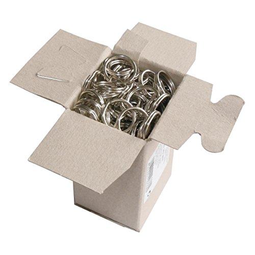 Wedo 2623016 Schlüsselringe Metallringe (16 mm Durchmesser, glanzvernickelt) 100 Stück, silber