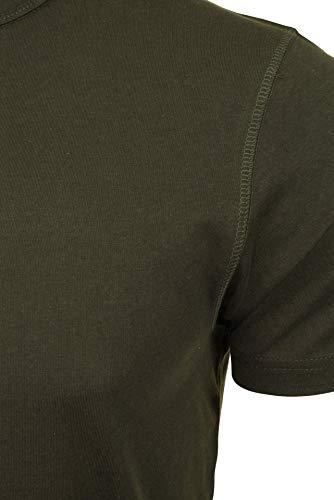 Brave Soul Herren T-Shirt 'Quartz' Henley Kurzarm (Lt Khaki/Ecru) XL