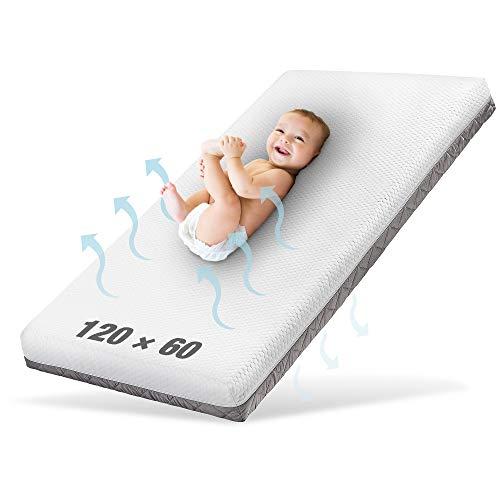 Ehrenkind® Babymatratze Royal | Babymatratze 60x120cm | Matratze 120x60 mit innovativem 3D Mesh und Hygiene Tencel Bezug wasserdicht + luftdurchlässig