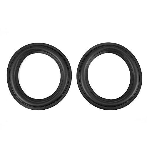 2 stks 6 inch speaker schuim, diy speaker kit lijm ringen onderdelen voor speaker reparatie (zwart)