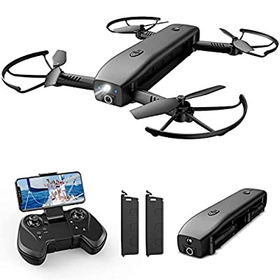 Holy Stone HS161 Drone with Camera for Adults 1080P FHD, FPV Foldable Drones with Optical Flow Positioning, Gesture Control, Handheld Camera, Power Bank and Flashlight Mode, 2 Modular Batteries from Holy Stone