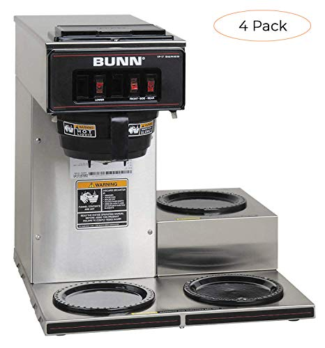Great Features Of BUNN 13300.0003 VP17-3SS3L Pourover Commercial Coffee Brewer with 3 Lower Warmers,...
