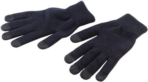 PEARL urban Handschuhe Touch: Strick-Handschuhe mit 5 Touchscreen-Fingerkuppen Gr. S (Strickhandschuhe)