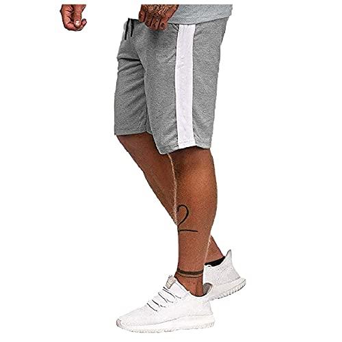 BIBOKAOKE Herren Sweat Shorts Kurze Sweatshorts Sommer Sport Short Mode Farbe-Spleiß Laufshorts Gym Kurze Bermuda Hosen Trainingsshorts Fitnesshose Casual Jungen Herrenshorts Regular Fit