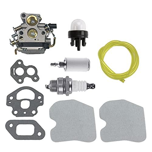 KLOVA Carburador Filtro de Aire, Filtro de línea de Combustible para Montaje de carburador de Motosierra Husq-Varna 235 235E 236 236E 240 240E