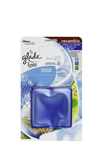 GLADE Brise Discreet Ambientador Eléctrico Recambio Frescor Ropa, 12 Gramos