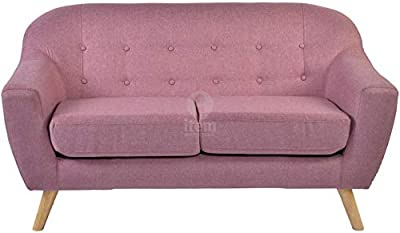 Designer Sofas4u Chesterfield 2 plazas Sofá Color Morado o ...